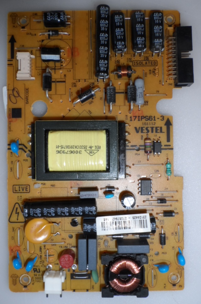 17IPS61-3/24INC/VES/5CH POWER BOARD ,17IPS61-3,161112,