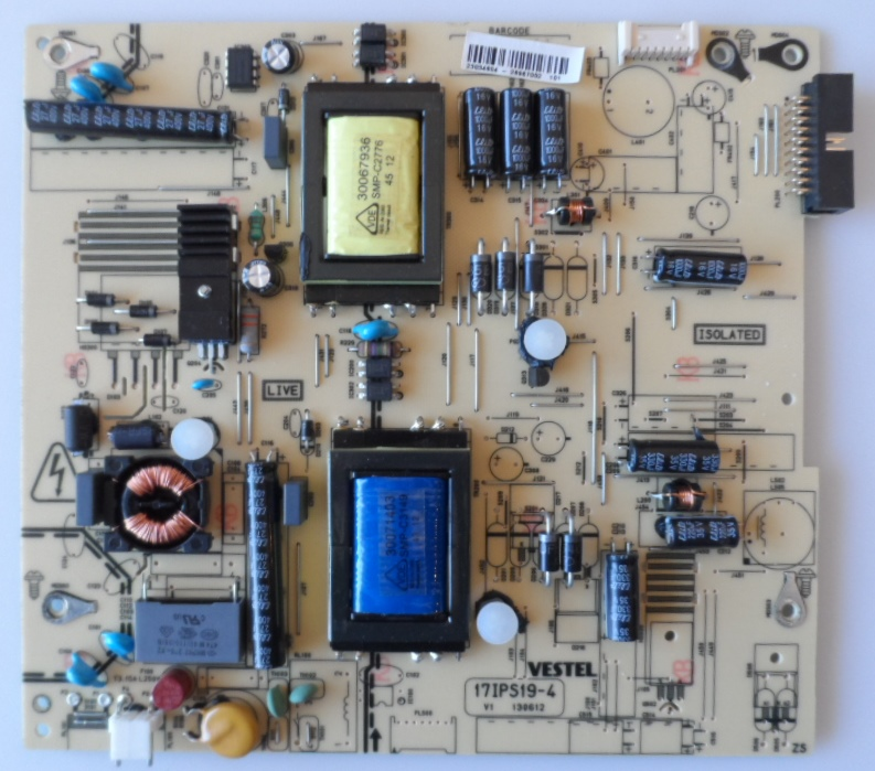 17IPS19-4/26INC/VES POWER BOARD ,17IPS19-4,130612 V1 for 26inc DISPLAY ,23034804,26967002,26960220,