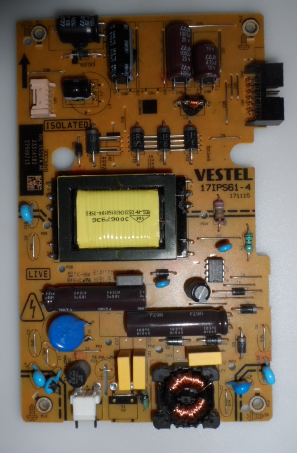 17IPS61-4/24INC/JVC POWER BOARD ,17IPS61-4,171115,