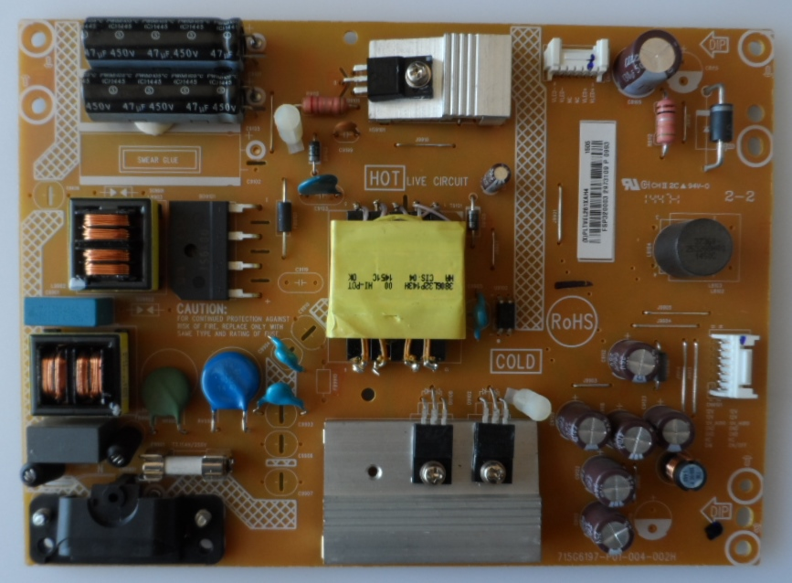 PB/715G6197-P01-004-002H/SHARP/32LD170 POWER BOARD,715G6197-P01-004-002H,  for ,SHARP LC-32LD170E,
