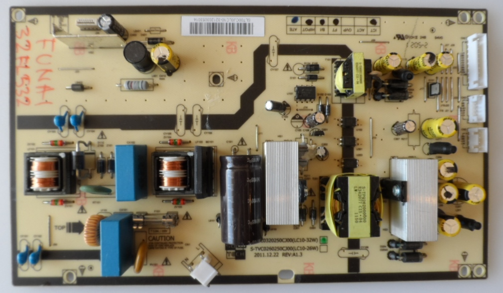 PB/S-TVC032/FUNAI/32FL532 POWER BOARD ,S-TVC0320250CJ00,(LC10-32W),