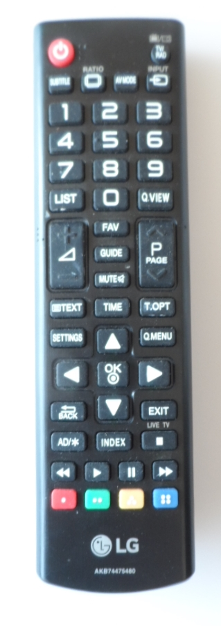 RC/LG/AKB74475480/1 ORIGINAL REMOTE CONTROL, AKB74475480, for LG LED TV