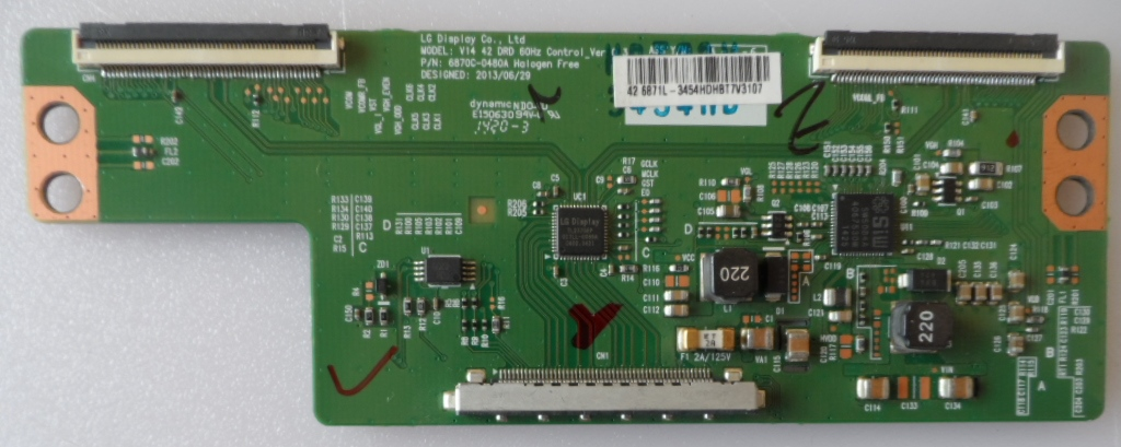 TCON/6870C0480A/PAN/42AS500 TCon BOARD, 6870C-0480A,for, PANASONIC TX-42AS500E,TX42-42A400E,