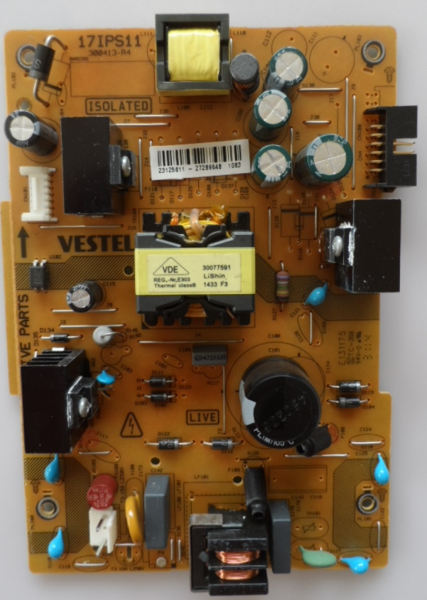 17IPS11/32INC/VES/VOX POWER BOARD 17IPS11 for 32 inc DISPLAY  23125811 27289648