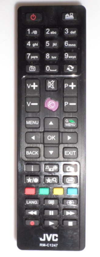 RC/JVC/RM-C1247  ORIGINAL  REMOTE CONTROL ,RM-C1247, for JVC LED TV