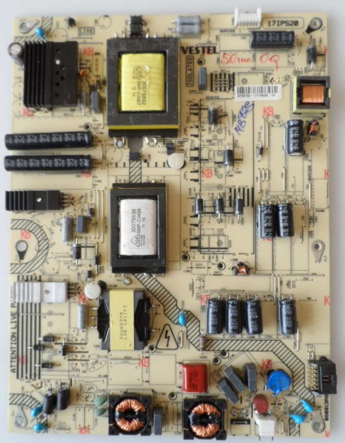 17IPS20/50INC/VES/MB82 POWER BOARD ,17IPS20 ,for 50 inc DISPLAY ,23184790, 27190433,060913R6,