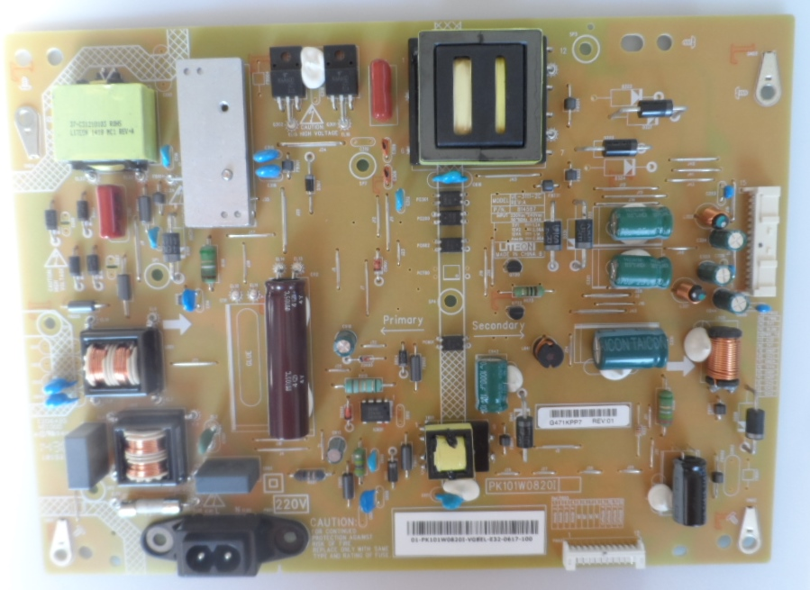 PB/UE31112C/TOSH/50L2456 POWER BOARD UE-3111-2C REV:A for TOSHIBA 50L2456D