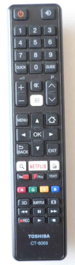 RC/TOSH/CT-8069   ORIGINAL REMOTE CONTROL ,CT-8069, for ,TOSHIBA LED TV,