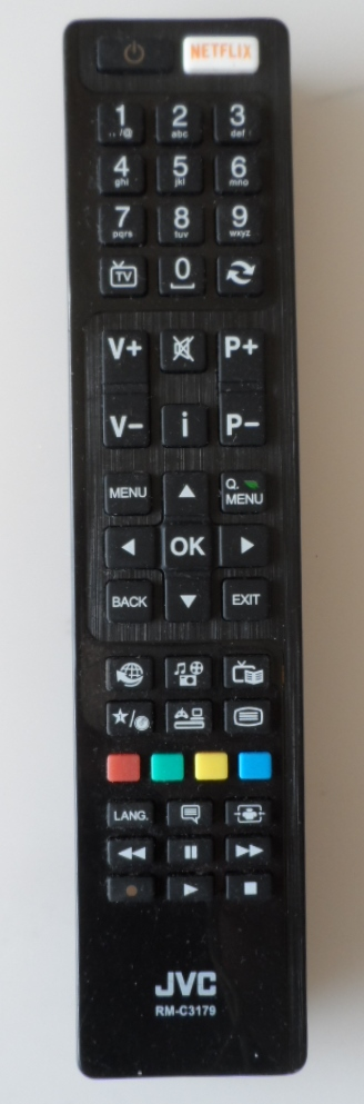 RC/RM-C3179/JVC/1  ORIGINAL  REMOTE CONTROL RM-C3179 for JVC LED TV