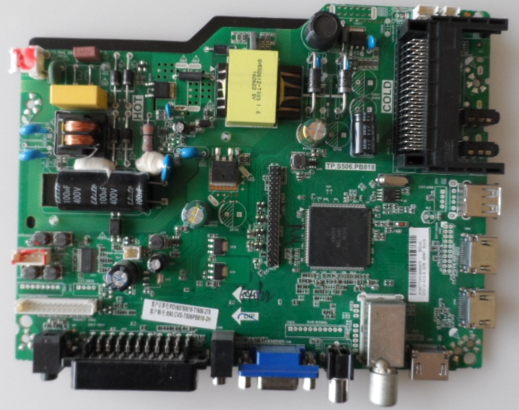 MB/TP.S506.PB818/TURBOX MAIN BOARD, TP.S506.PB818 , for TURBOX 32 inc