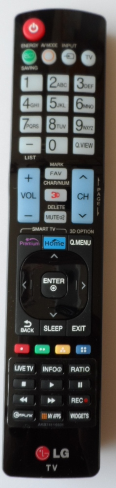 RC/LG/AKB74115501 ORIGINAL REMOTE CONTROL, AKB74115501, for LG LED TV