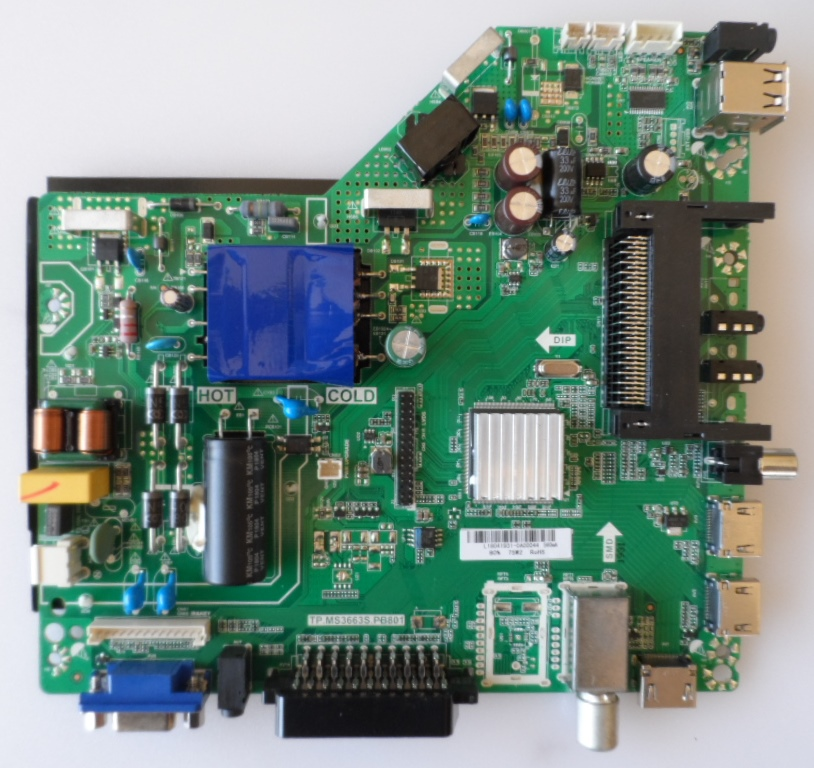 MB/TP.MS3663S.PB801/AR/50DN4T2 MAIN BOARD, TP.MS3663S.PB801 , for, ARIELLI LED-50DN4T2,