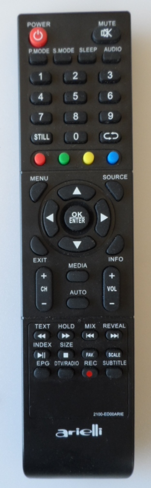 RC/ARIELLI/50DN4T2 ORIGINAL REMOTE CONTROL ,2100-ED00ARIE, for ARIELLI,LED-50DN4T2,