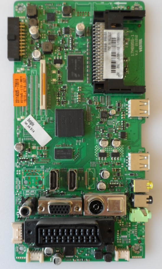 17MB95S-1/TOSH/1 MAIN BOARD, 17MB95S-1, for 32inc DISPLAY , 10085041,23114322,27073519,V.1 211212,