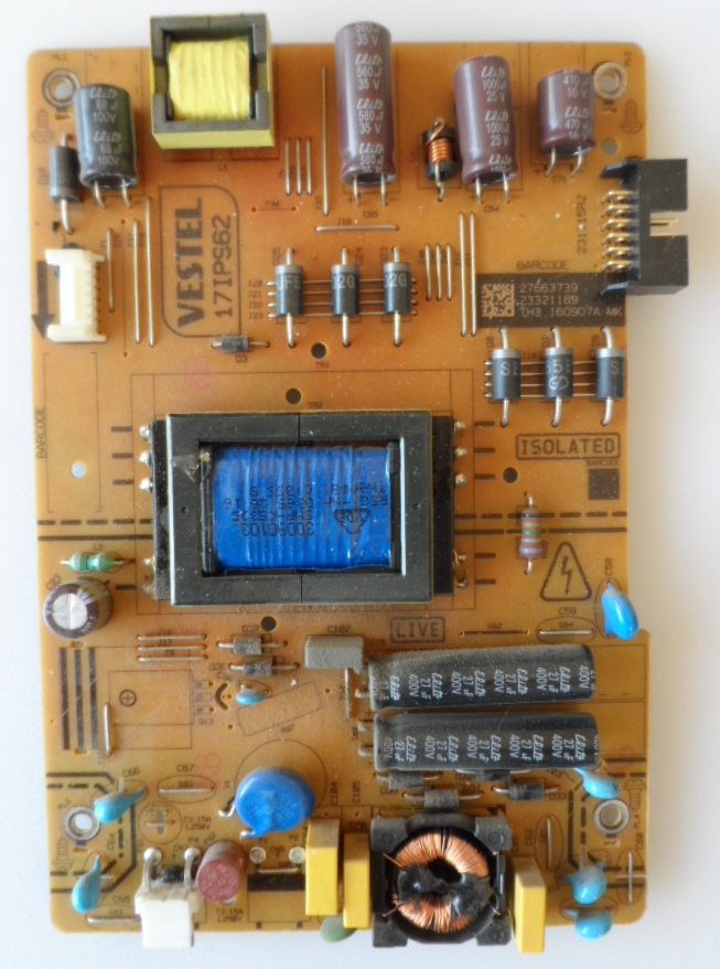 17IPS62/32INC/TFK/3 POWER BOARD ,17IPS62, for 32 inc DISPLAY, 27663739,23321189,TH3 160907A,231115R2,