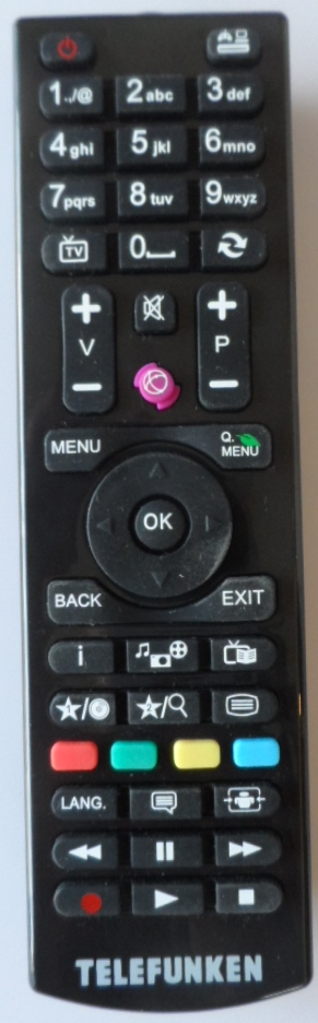 RC/4870/TFK/VES  REMOTE CONTROL, RC4870, for ,TELEFUNKEN ,