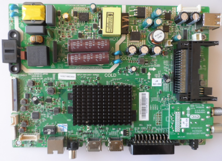 MB/5823-A6/SKYWO/32E2000 MAIN BOARD 5823-A6N83G-0P00  for SKAYWORTH 32E2000S