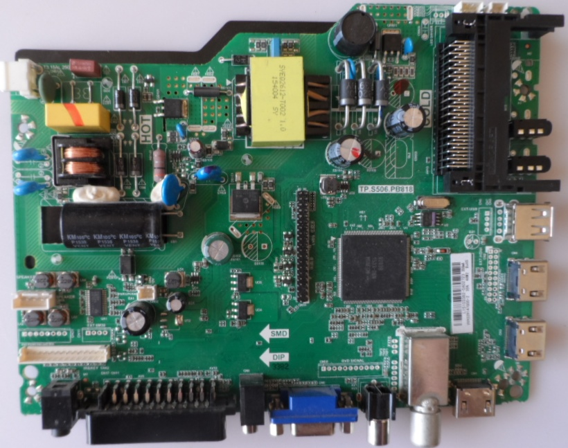 MB/TP.S506.PB818/32INC/SMT32D7 MAIN BOARD TP.S506.PB818  for  SmartTech 32D7