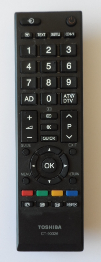 RC/TOSH/CT90326   ORIGINAL REMOTE CONTROL ,CT-90326, for ,TOSHIBA LED TV,