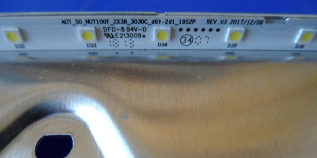 LB/50INC/SAM/50NU7092 LED BACKLAIHT,AOT_50_NU7100F_2X38_3030C_d6f_2d1_1952P REV.V3,BN61-15484A,