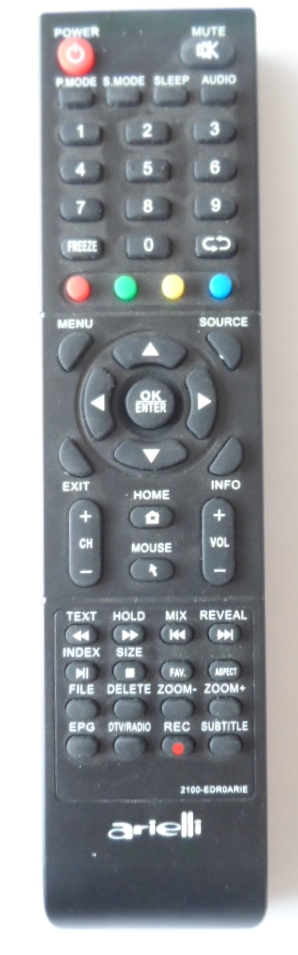 RC/ARIELLI/50DN4T2/1 ORIGINAL REMOTE CONTROL ,2100-EDR0ARIE, for ARIELLI,LED-50DN4T2,