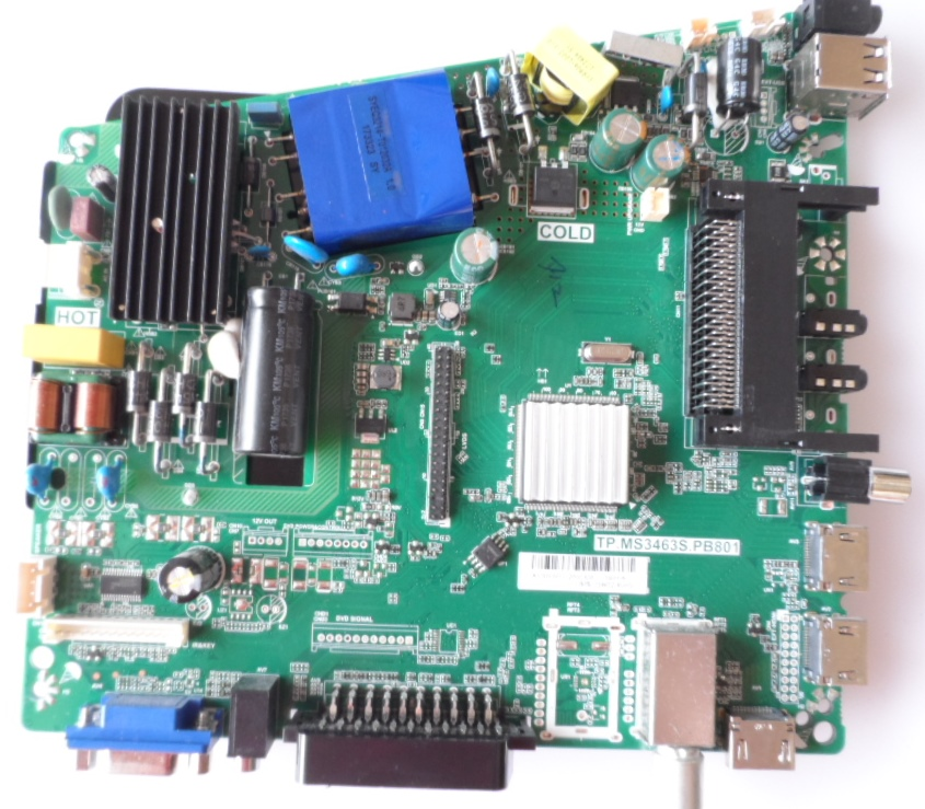 MB/TP.MS3463S.PB801/AR/49DN4T2 MAIN BOARD, TP.MS3463S.PB801 , for, ARIELLI LED-49DN4T2,