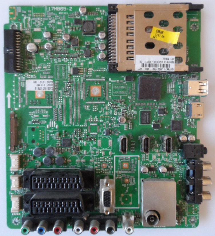 17MB65-2/VES/TFK MAIN BOARD, 17MB65-2 ,011111 for 42 inc DISPLAI ,10078671,23031740,26887814,