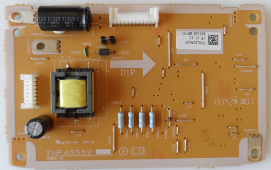 LD/39INC/PAN/L39B6E LED DRIVER ,TNP4G552,TXBLD1RKUK, for ,PANASONIC TX-L39B6E,