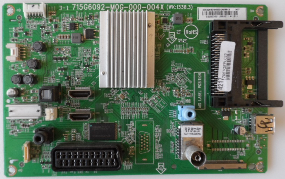 MB/40INC/PH/40PFH4109/88 MAIN BOARD ,715G6092-M0G-000-004X,(WK:1338.3), for, PHILIPS 40PFH4109/88,