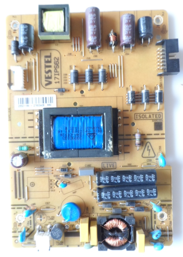 17IPS62/32INC/VES/HIT POWER BOARD ,17IPS62, for 32 inc DISPLAY, 23321189,27600405,150115R2,