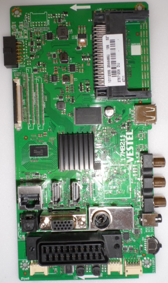 17MB211/32INC/FINLUX MAIN BOARD ,17MB211 , for 32inc DISPLAY ,10112335,23444860,27871208,21111R3,
