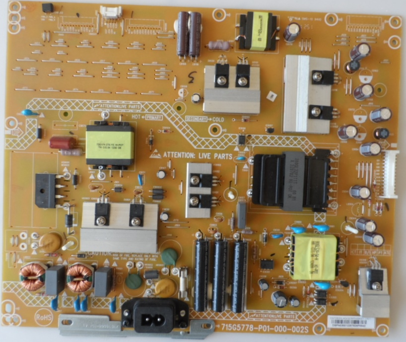 PB/42INC/PH/42PFL5008 POWER BOARD 715G2778-P01-000-002S for PHILIPS 42PFL5008K/12