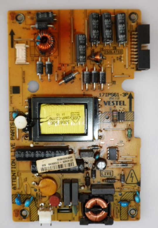 17IPS61-3P/24INC/24PFL2908 POWER BOARD ,17IPS61-3P, 291112,