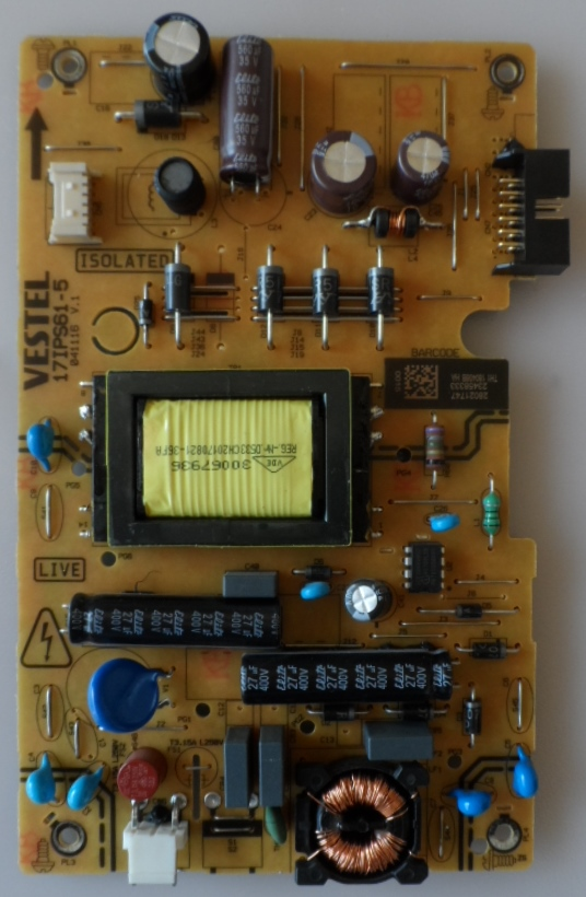 17IPS61-5/24INC/VES/CROWN POWER BOARD ,17IPS61-5,041116, V.1,
