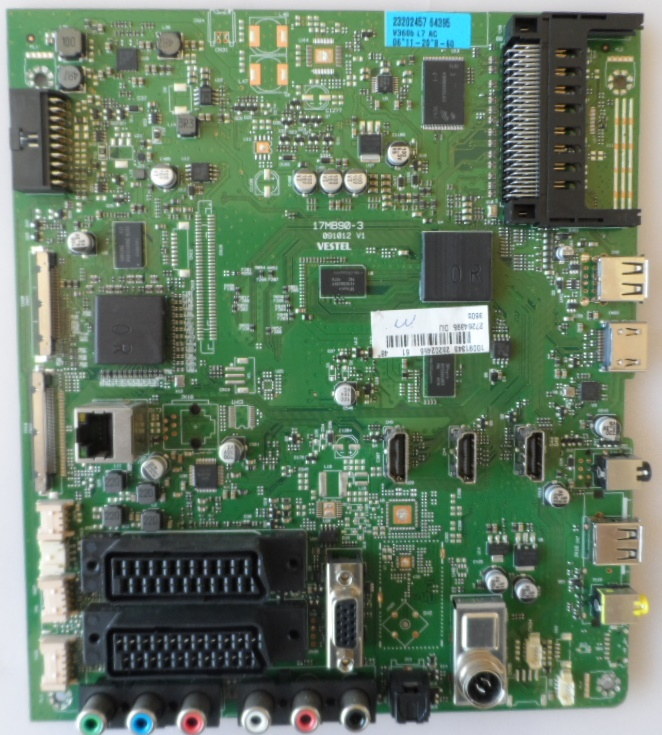 17MB90-3/48INC/TOSH/48T5435 MAIN BOARD, 17MB90-3, for 48INC,TOSHIBA, 48T5435DG, 10091343,23202456,27264395,