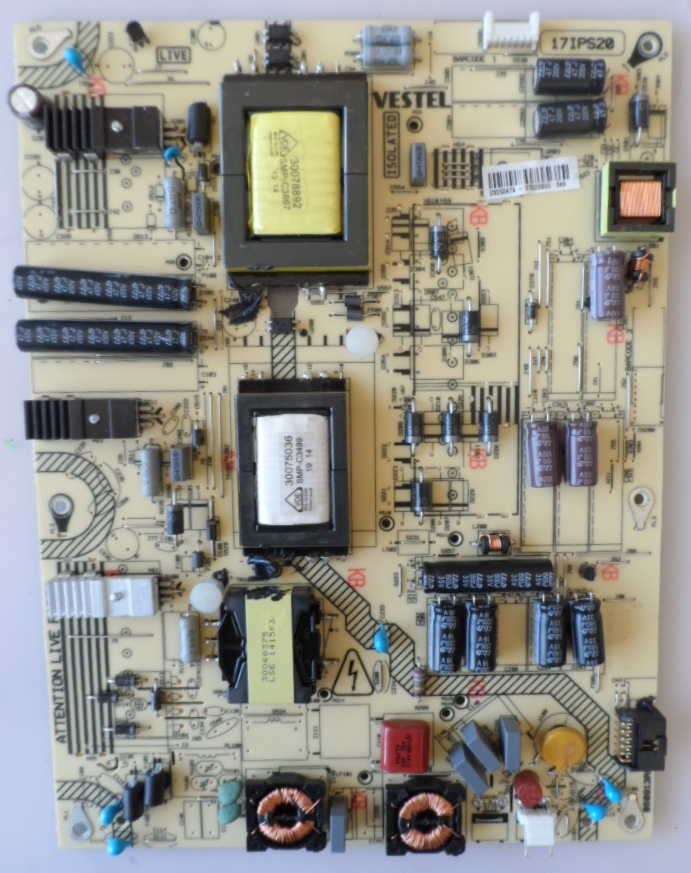 17IPS20/48INC/TOSH/48T5435 POWER BOARD, 17IPS20, for 48inc DISPLAY, 23202479,27220946,TOSHIBA,48T5435