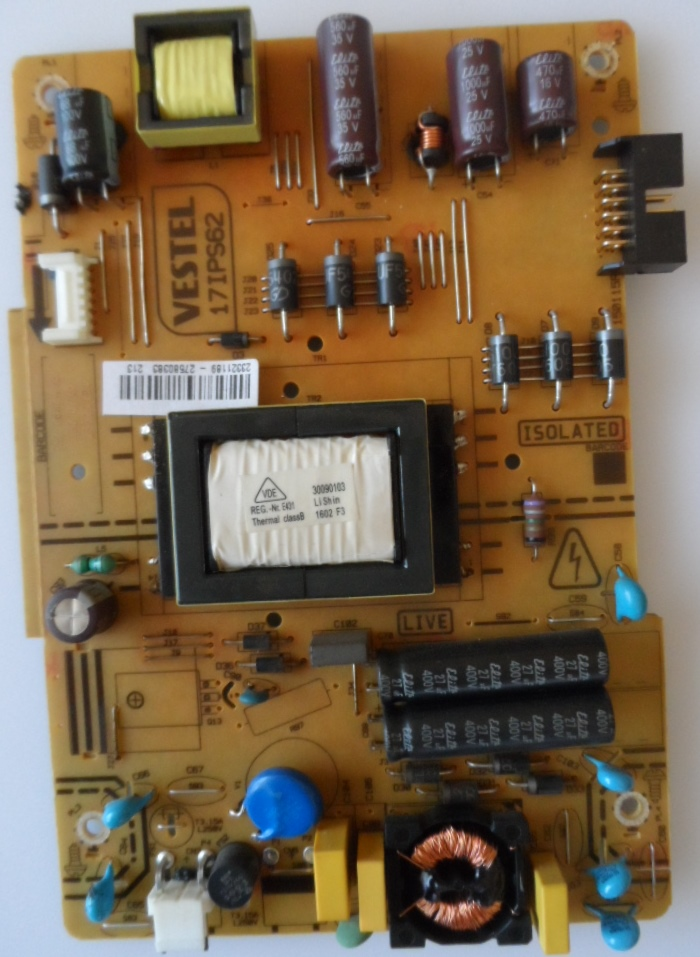 17IPS62/32INC/JVC/6 POWER BOARD ,17IPS62, for 32 inc DISPLAY ,23321189,27580383,150115R2,