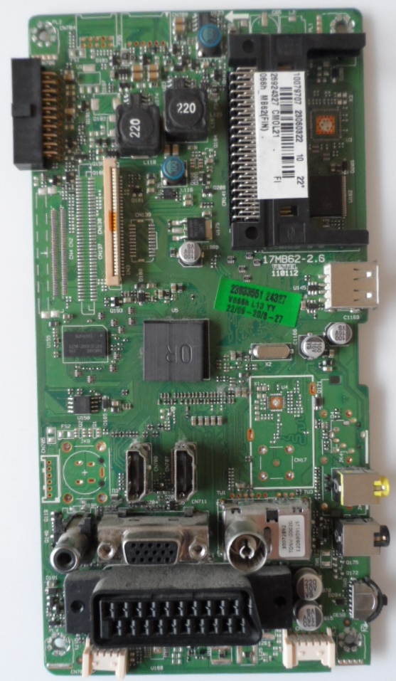 17MB62/22INC/FINLUX MAIN BOARD ,17MB62-2.6,110112,  for 22 inc DISPLAY ,10079707,23060322,26924327,