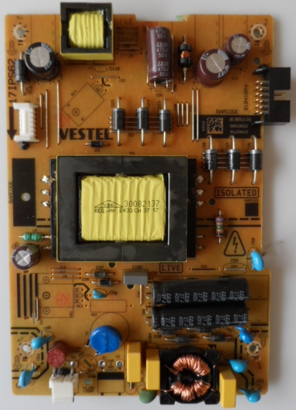 17IPS62/32INC/JVC/7 POWER BOARD ,17IPS62, for 32 inc DISPLAY ,27042716,23367482,010416R4,