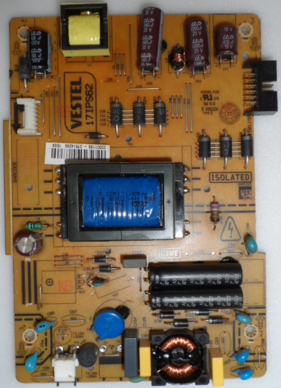 17IPS62/32INC/JVC/11 POWER BOARD ,17IPS62, for 32 inc DISPLAY ,23321189,27514260,150115R2,