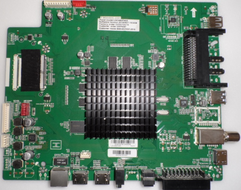 MB/T.MS6488E.U801/BAUHN MAIN BOARD T.MS6488E.U801,  for, BAUHN B48-63UHDF-0516,