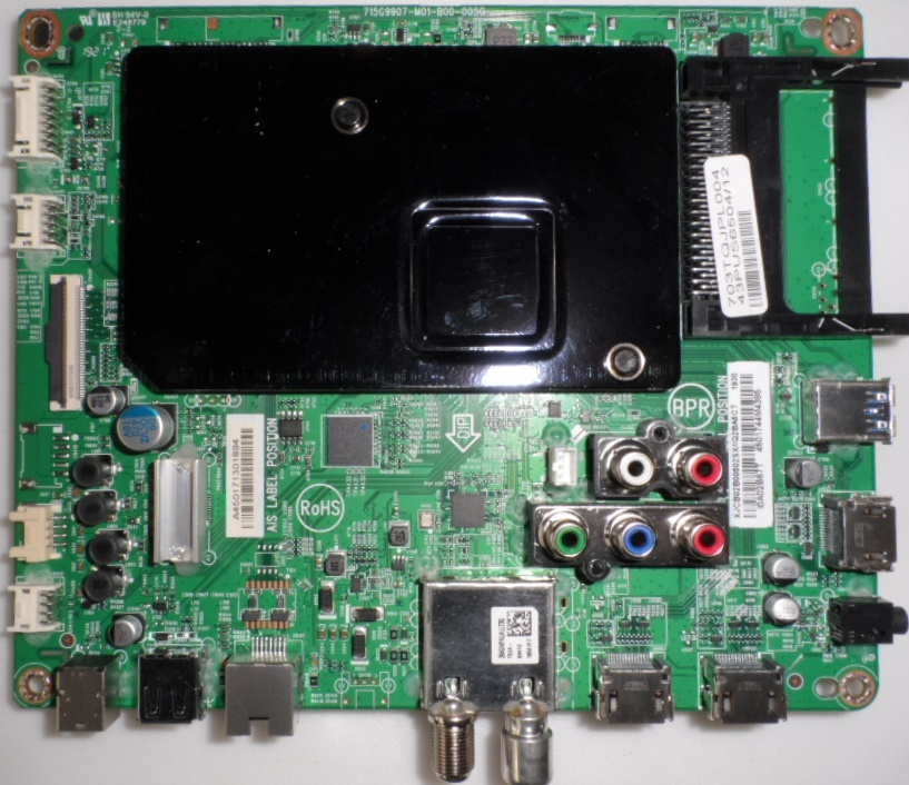 MB/43INC/PH/43PUS6504 MAIN BOARD , 715G9907-M01-B00-005G, for ,PHILIPS 43PUS6504/12,43PUS6554/12