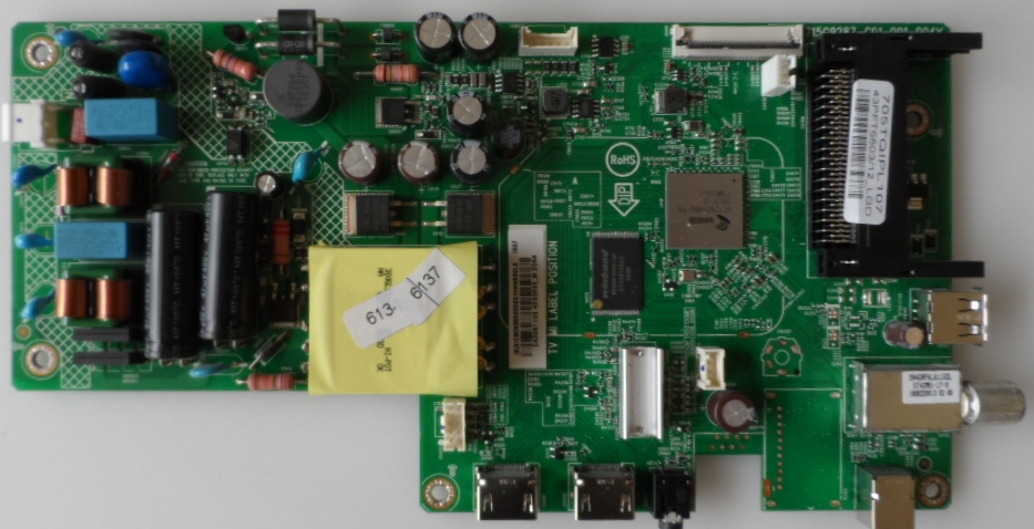 MB/43INC/PH/43PFT5503 MAIN BOARD ,715G9287-C01-001-004Y, for ,PHILIPS 43PFT5506/12,