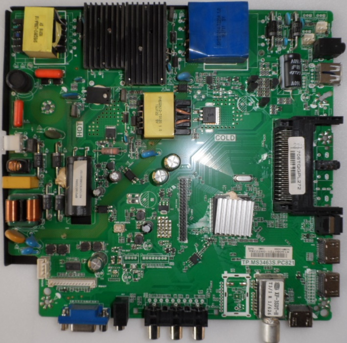 MB/43INC/PH/43PFT4001 MAIN BOARD ,TP.MS3463S.PC821, for ,PHILIPS 43PFT4001/12,