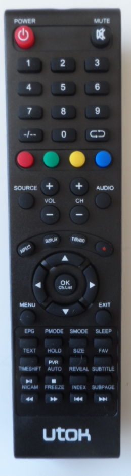 RC/UTOK/U32HD8 ORIGINAL REMOTE CONTROL for UTOK U32HD8