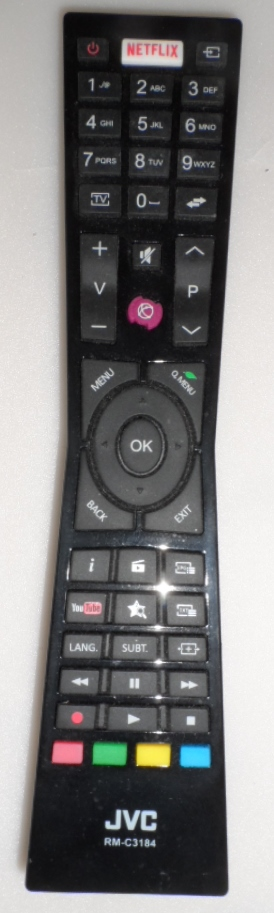 RC/JVC/RM-C3184  ORIGINAL  REMOTE CONTROL,RM-C3184, for JVC LED TV