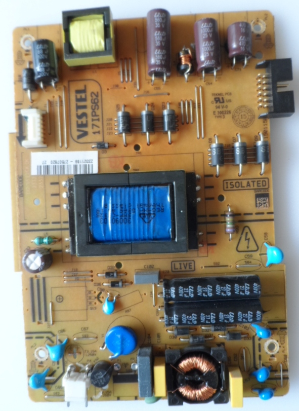 17IPS62/32INC/JVC/15 POWER BOARD ,17IPS62, for 32 inc DISPLAY ,23321189,27507820,150115R2,
