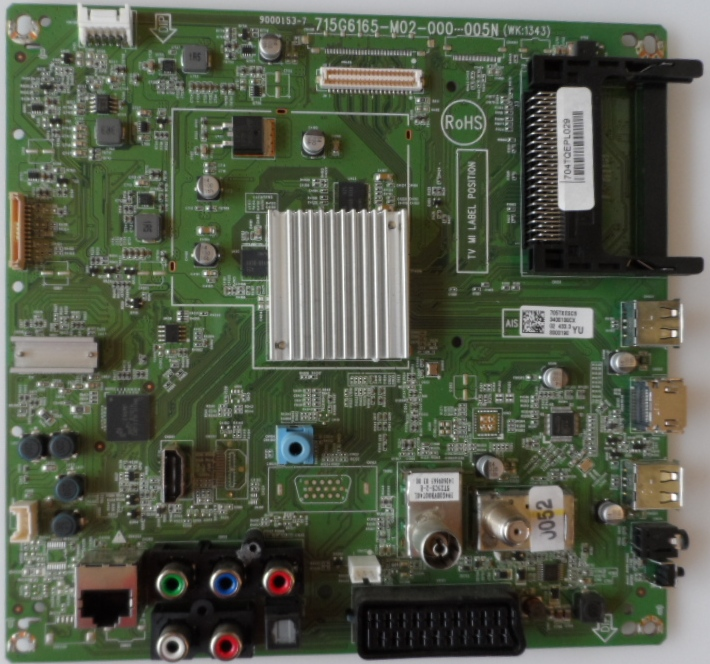 MB/50INC/PH/50PFK4509 MAIN BOARD, 715G6165-M02-000-005N, for PHILIPS 50PFK4509/12