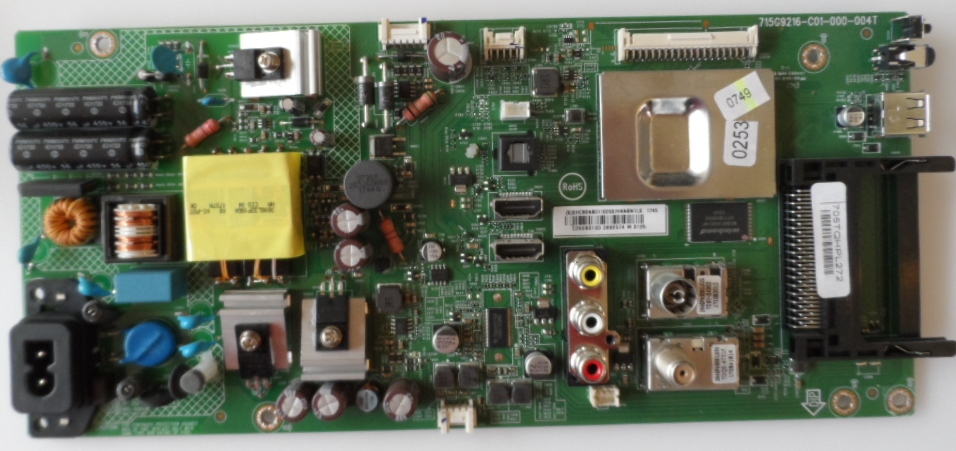MB/39INC/PH/39PHS4112 MAIN BOARD ,715G9216-C01-000-004T, for ,PHILIPS 39PHS4112/12,