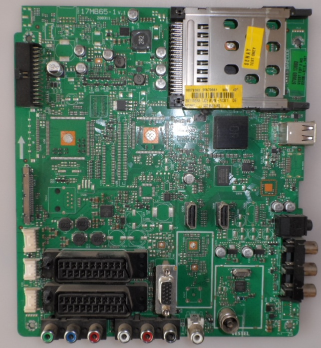 17MB65-1/VES/FINLUX MAIN BOARD, 17MB65-A v.1  for 42 inc DISPLAI ,10072832,20570661,26713683,
